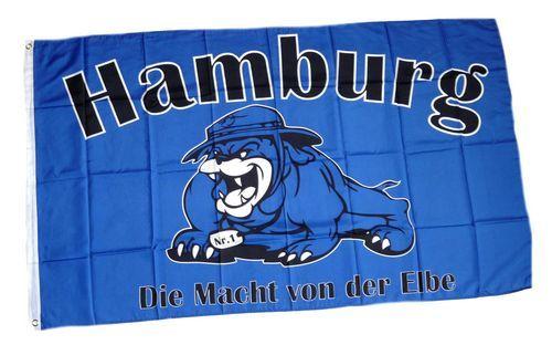 Fahne / Flagge Hamburg Bulldogge 90 x 150 cm
