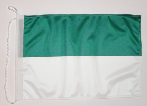 Bootsflagge Grün / Weiß 30 x 45 cm