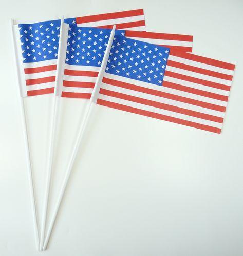 10 Papierfähnchen USA Papierfahnen Fahne Flagge