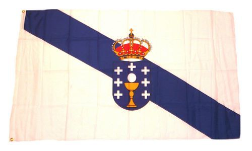 Fahne / Flagge Spanien - Galizien 90 x 150 cm