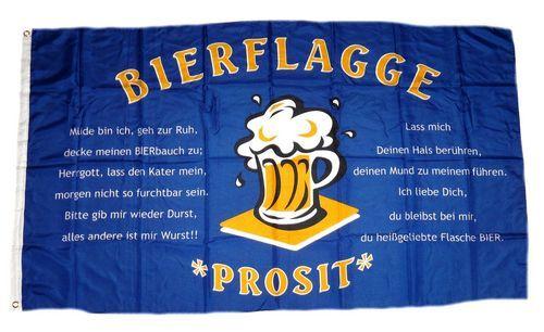 Fahne / Flagge Bier Spruch Bierfahne 90 x 150 cm