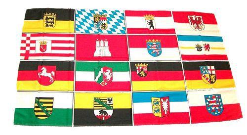 Flagge / Fahne Deutschland 16 Bundesländer Hissflagge 90 x 150 cm