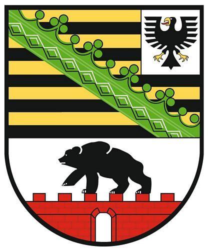 Wappenschild Aufkleber Sticker Sachsen Anhalt