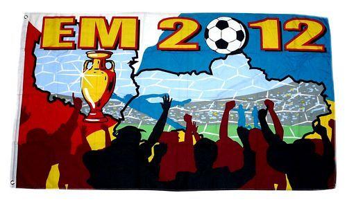 Fahne / Flagge Fußball EM 2012 90 x 150 cm