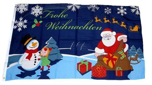 Fahne / Flagge Weihnachten Schlitten 90 x 150 cm