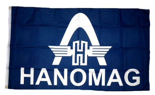 Fahne / Flagge Hanomag Schrift 90 x 150 cm