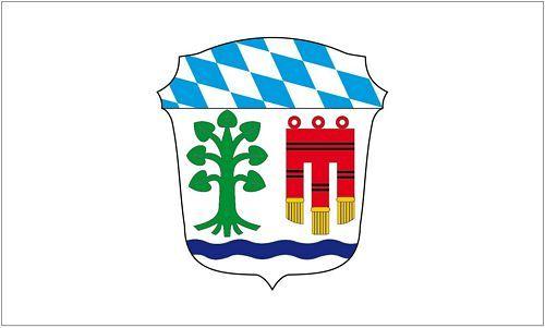 Fahne / Flagge Landkreis Lindau Bodensee 90 x 150 cm