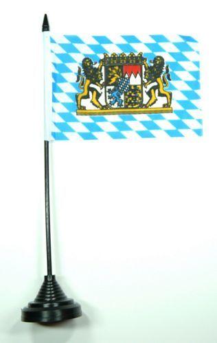 Fahne / Tischflagge Freistaat Bayern Löwen 11 x 16 cm
