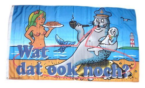 Fahne / Flagge Robbe Meerjungfrau 90 x 150 cm