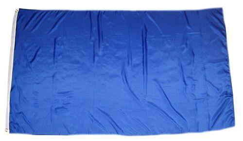 Fahne / Flagge Einfarbig Blau 150 x 250 cm