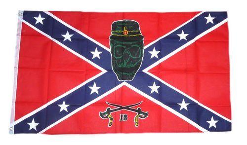 Fahne / Flagge Südstaaten - Army Skull 90 x 150 cm