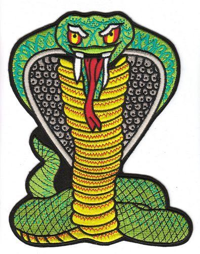 Aufnäher Patch Schlange Kobra