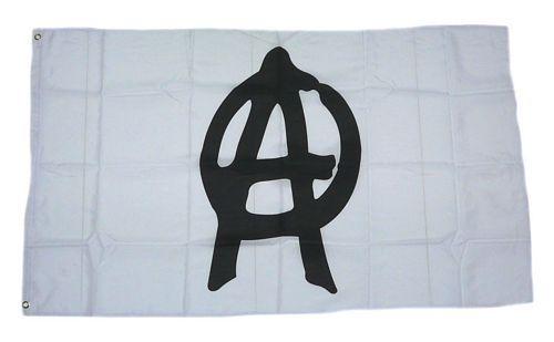 Fahne / Flagge Anarchie weiß 90 x 150 cm