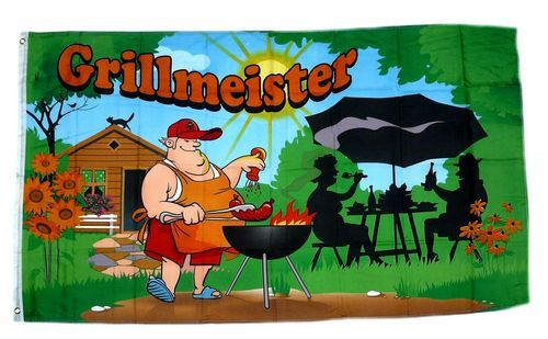 Fahne / Flagge Grillmeister 90 x 150 cm