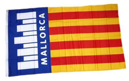 Fahne / Flagge Spanien - Mallorca Schrift 90 x 150 cm