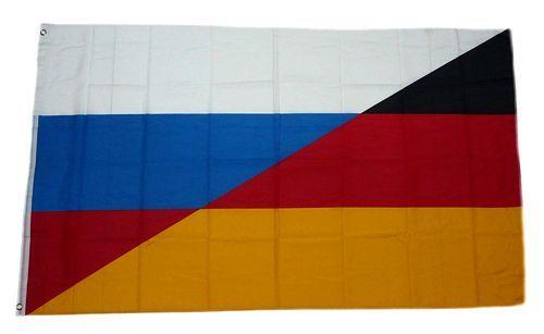 Fahne / Flagge Deutschland / Russland 90 x 150 cm