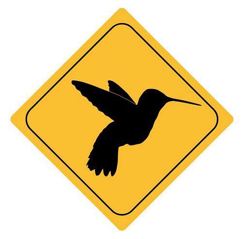 Aufkleber Sticker Achtung Kolibri Autoaufkleber