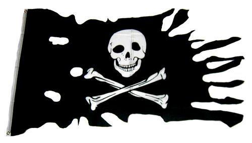 Fahne / Flagge Pirat Freibeuter Fransen 90 x 150 cm