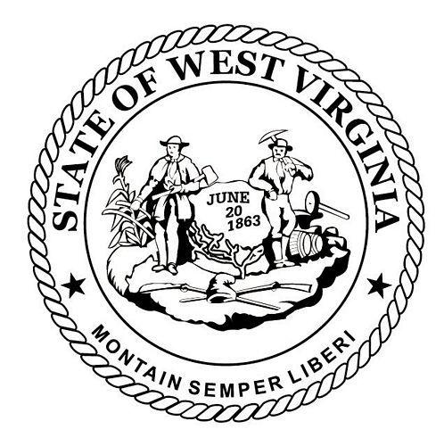 Fahnen Aufkleber Sticker Siegel USA - West Virginia