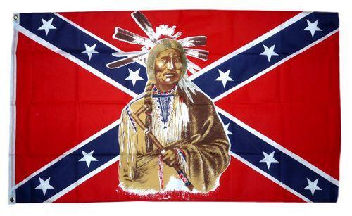 Fahne / Flagge Südstaaten - Indianer 90 x 150 cm