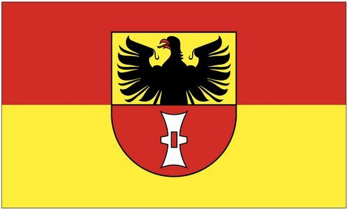 Fahne / Flagge Mühlhausen 90 x 150 cm