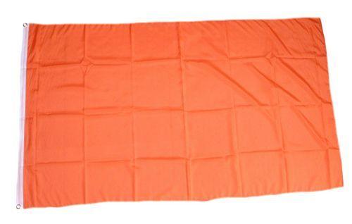 Fahne / Flagge Einfarbig Orange 150 x 250 cm