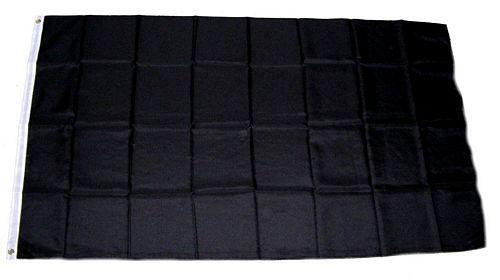 Fahne / Flagge Einfarbig Schwarz 150 x 250 cm