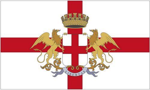 Fahne / Flagge Italien - Genua 90 x 150 cm