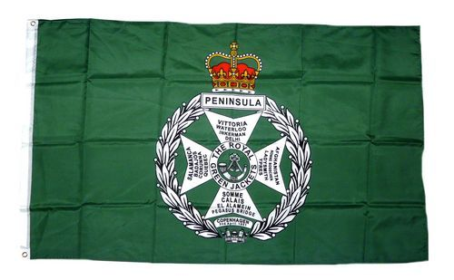 Fahne / Flagge Großbritannien Royal Green Jacket 90 x 150 cm