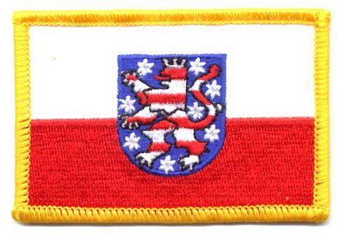 Fahnen Aufnäher Thüringen