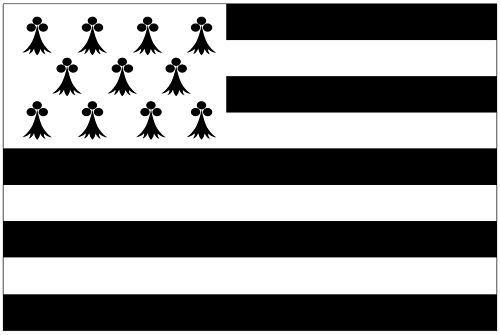 Fahnen Aufkleber Sticker Frankreich - Bretagne