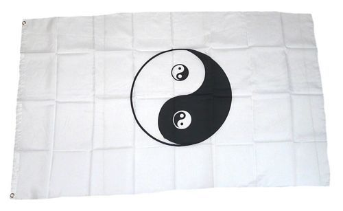 Fahne / Flagge Ying Yang 90 x 150 cm