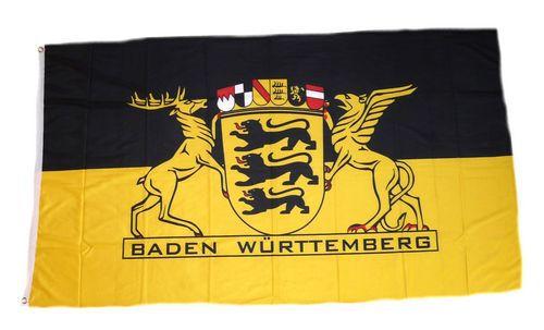 Flagge / Fahne Baden Württemberg Landessiegel Hissflagge 90 x 150 cm