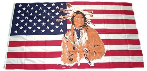 Fahne / Flagge USA - Indianer 90 x 150 cm