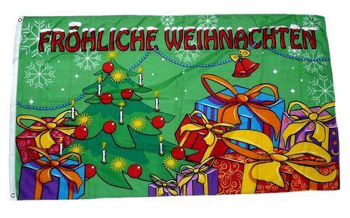 Fahne / Flagge Fröhliche Weihnachten Geschenke 90 x 150 cm