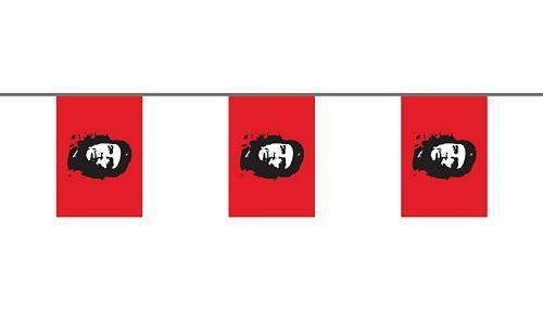 Flaggenkette Che Guevara 6 m