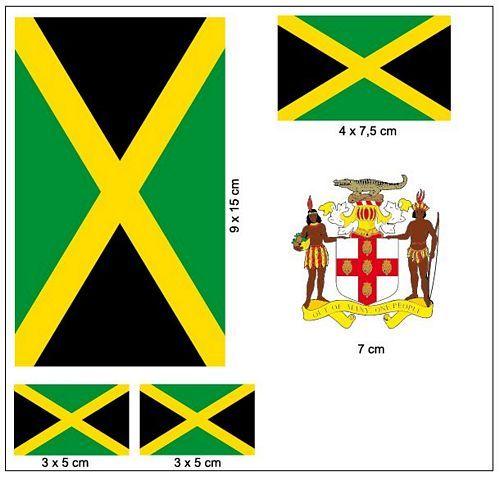 Fahnen Aufkleber Set Jamaika