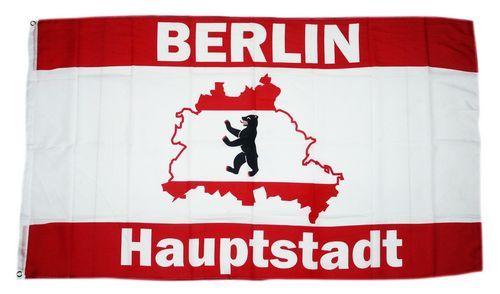 Fahne / Flagge Berlin Hauptstadt Karte 90 x 150 cm