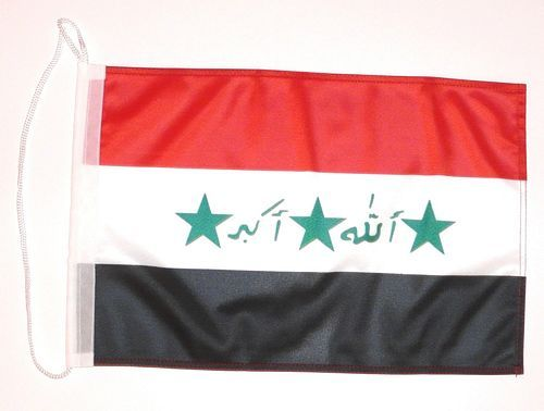 Bootsflagge Irak 30 x 45 cm