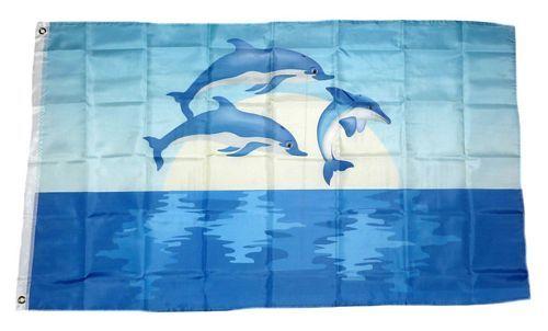 Flagge / Fahne Delfine 90 x 150 cm