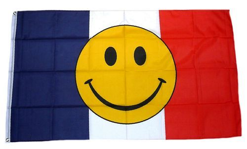 Fahne / Flagge Frankreich Smile 90 x 150 cm