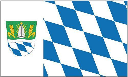 Fahne / Flagge Landkreis Straubing Bogen 90 x 150 cm