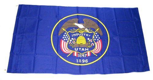 Fahne / Flagge USA - Utah 90 x 150 cm