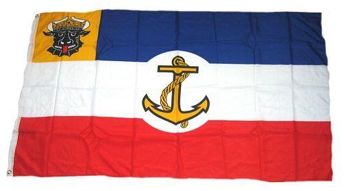 Fahne / Flagge Mecklenburg Seefahrzeuge 90 x 150 cm