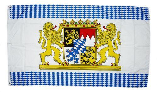 Fahne / Flagge Bayern Löwen Rauten 90 x 150 cm