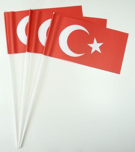 10 Papierfähnchen Türkei Papierfahnen Fahne Flagge