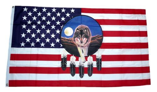 Fahne / Flagge USA - Dreamcatcher 90 x 150 cm