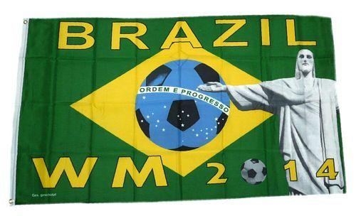 Fahne / Flagge Fußball WM 2014 Brasilien 90 x 150 cm