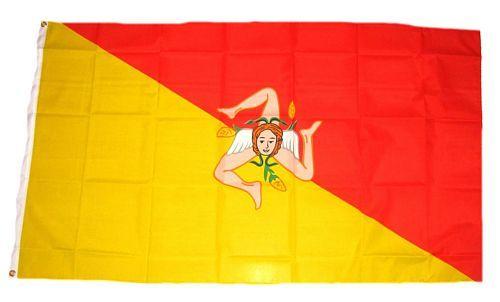 Flagge Fahne Italien - Sizilien 90 x 150 cm