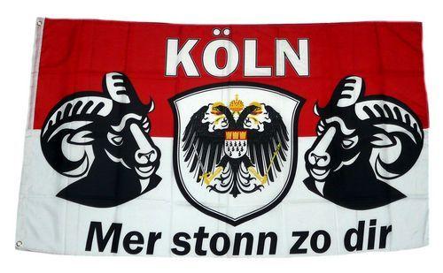 Fahne / Flagge Köln Mer stonn zo dir 90 x 150 cm